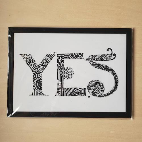 【A4ポスター・フレーム付・ブラック】YES(New Language, New Communication)
