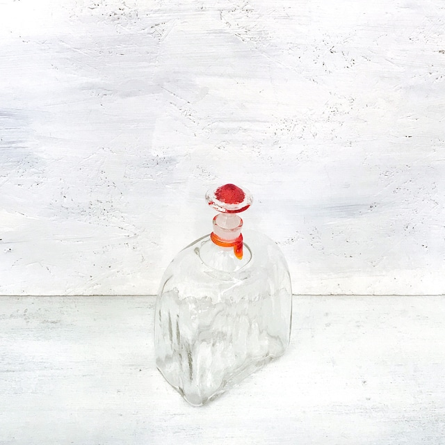【R-620】工芸ガラス栓付き瓶