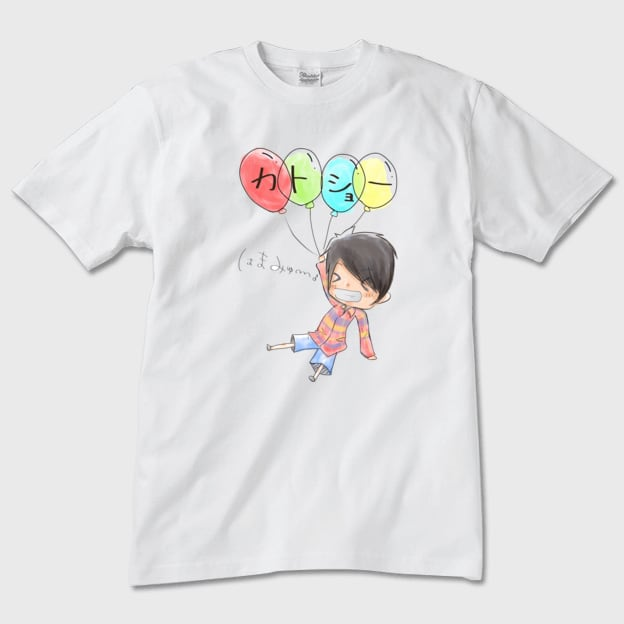 カトショーTシャツ 風船 白