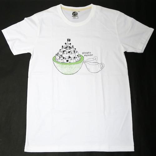 まんまる氷になったパンダが可愛い!「かき氷パンダ」 Tシャツ