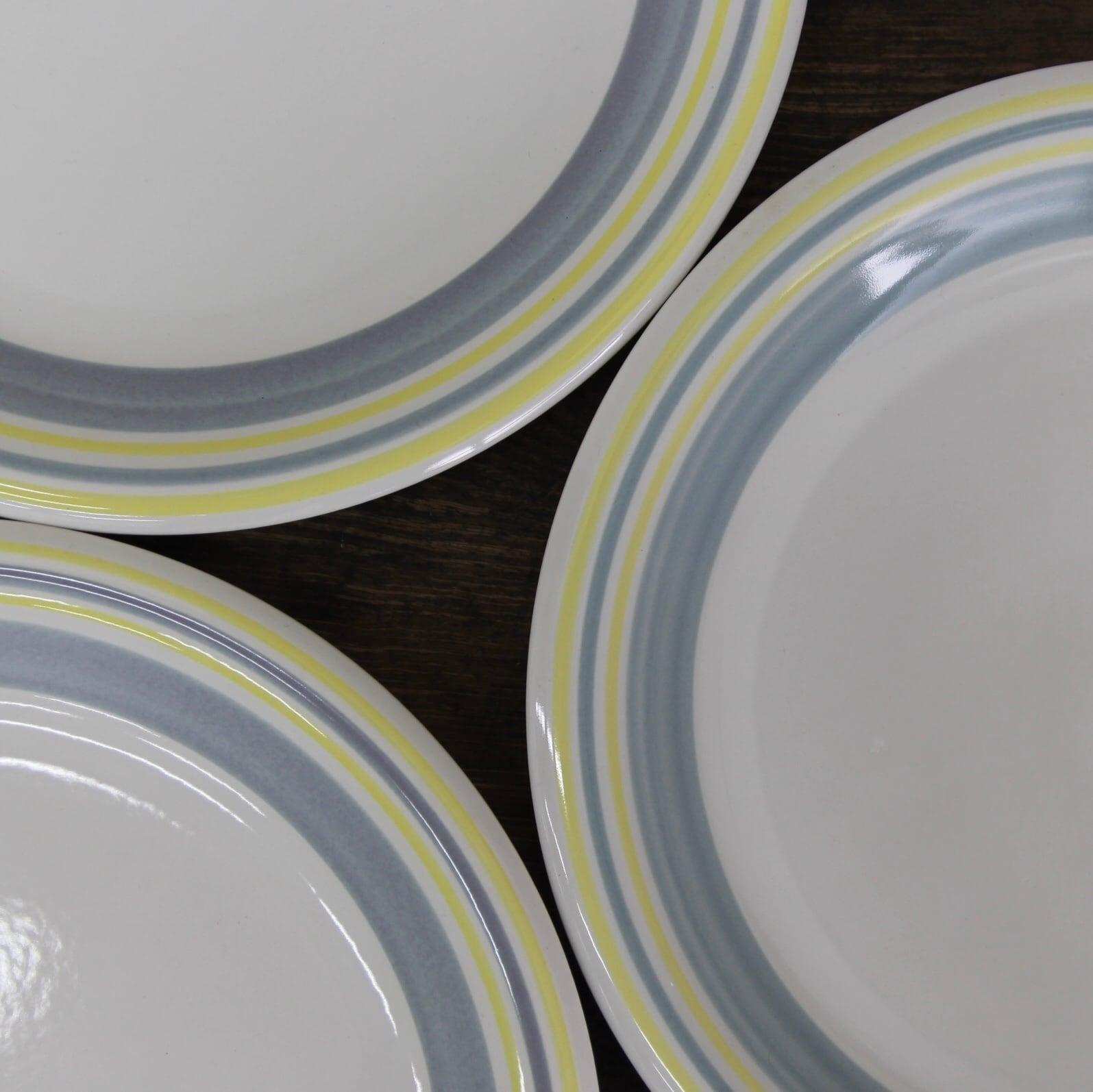 Mount Clemens pottery 淡色リム ストーンウェア 在庫3枚