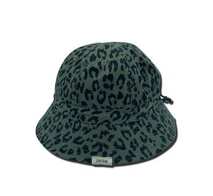 UNFRM OUTDOOR STANDARD「SHELTECH REVERSIBLE BELL HAT」BLACK/LEOPARD