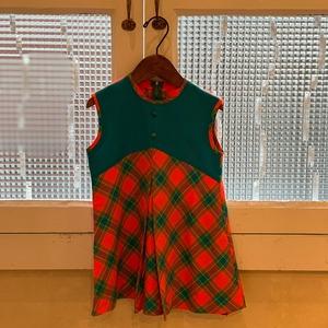 【送料無料】【KIDS】Check dress-Size 3 years old-