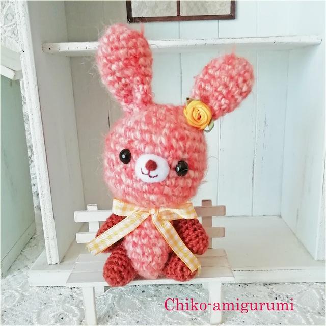 Chiko-amigurumi: オレンジ ウサギさん