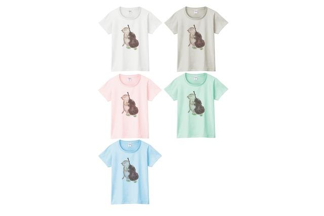 コントラバス猫のTシャツ
