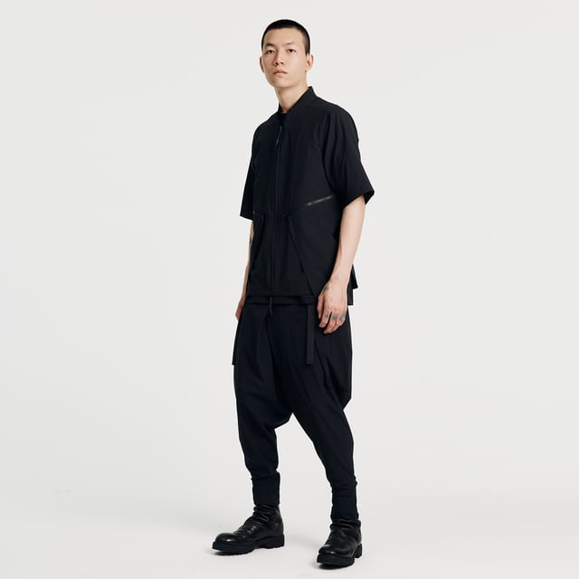 NOSUCISM 21SS  マルチポケットジッパーシャツ