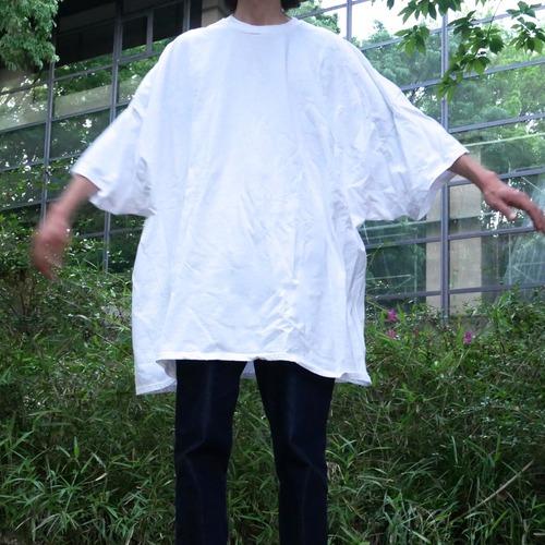 【USED】Hanes ホワイト 無地 オーバーサイズ Tシャツ