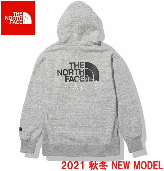 ノースフェイス パーカー スウェット プルオーバー パーカー THE NORTH FACE バックハーフドームフーディ NT62135 ミックスグレ