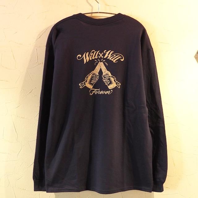 【一点物】 Forever Long T-shirts Navy Lサイズ