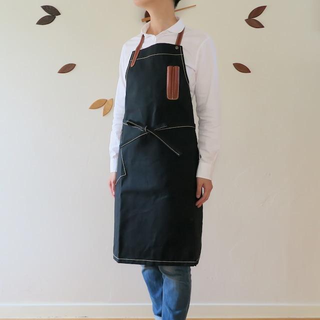 Paraffin canvas apron  BLACK