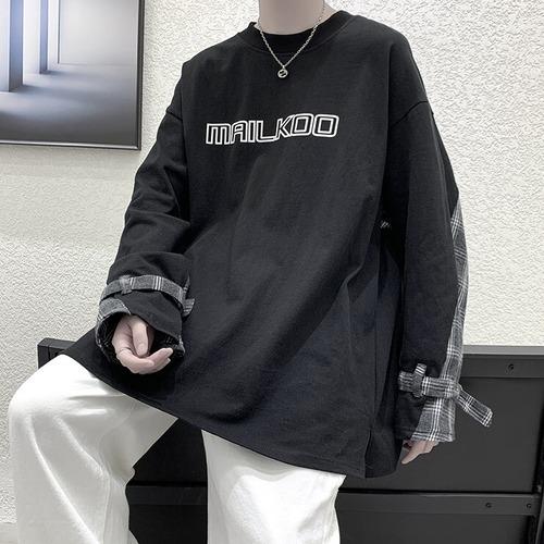 ユニークデザインロングTシャツ BL9216