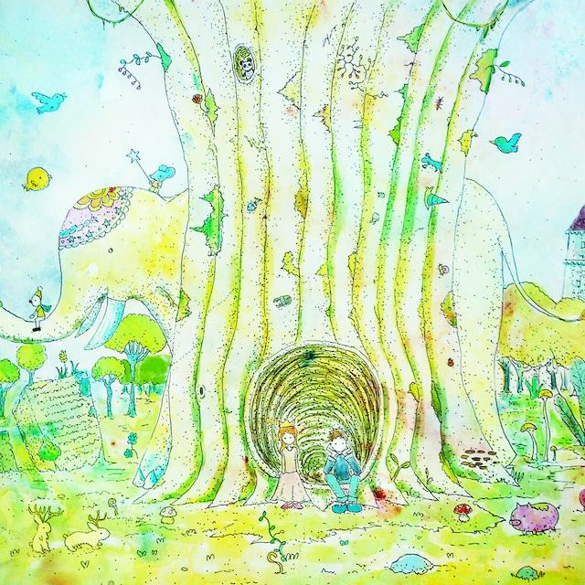 絵画 絵 ピクチャー 縁起画 モダン シェアハウス アートパネル アート art 14cm×14cm 一人暮らし 送料無料 インテリア 雑貨 壁掛け 置物 おしゃれ イラスト ロココロ 画家 : 志摩飛龍 作品 : まだかな。