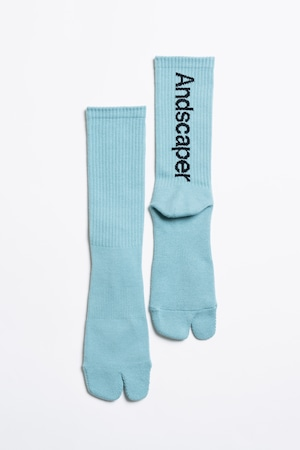 Concept Logo Socks(Nile Green × Black)