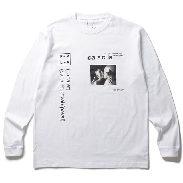 POVAL NIGHT THOUGHTS L/S TEE WHITE