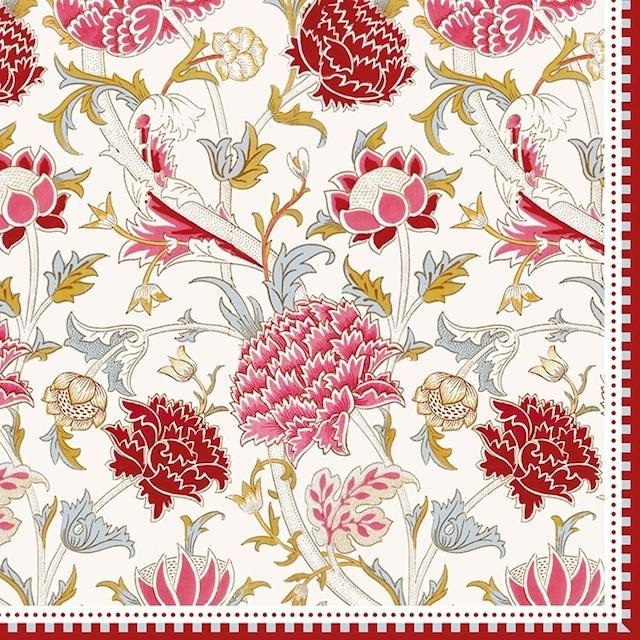 【Easy Life】バラ売り2枚 ランチサイズ ペーパーナプキン William Morris ピンク ウィリアム・モリス