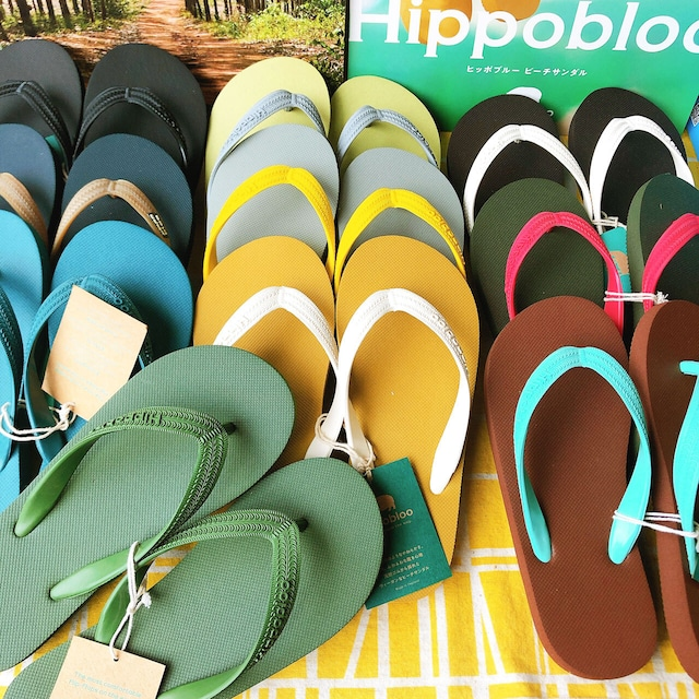 HIPPOBLOO ヒッポブルー 天然ゴム100%のビーチサンダル メンズ・レディース
