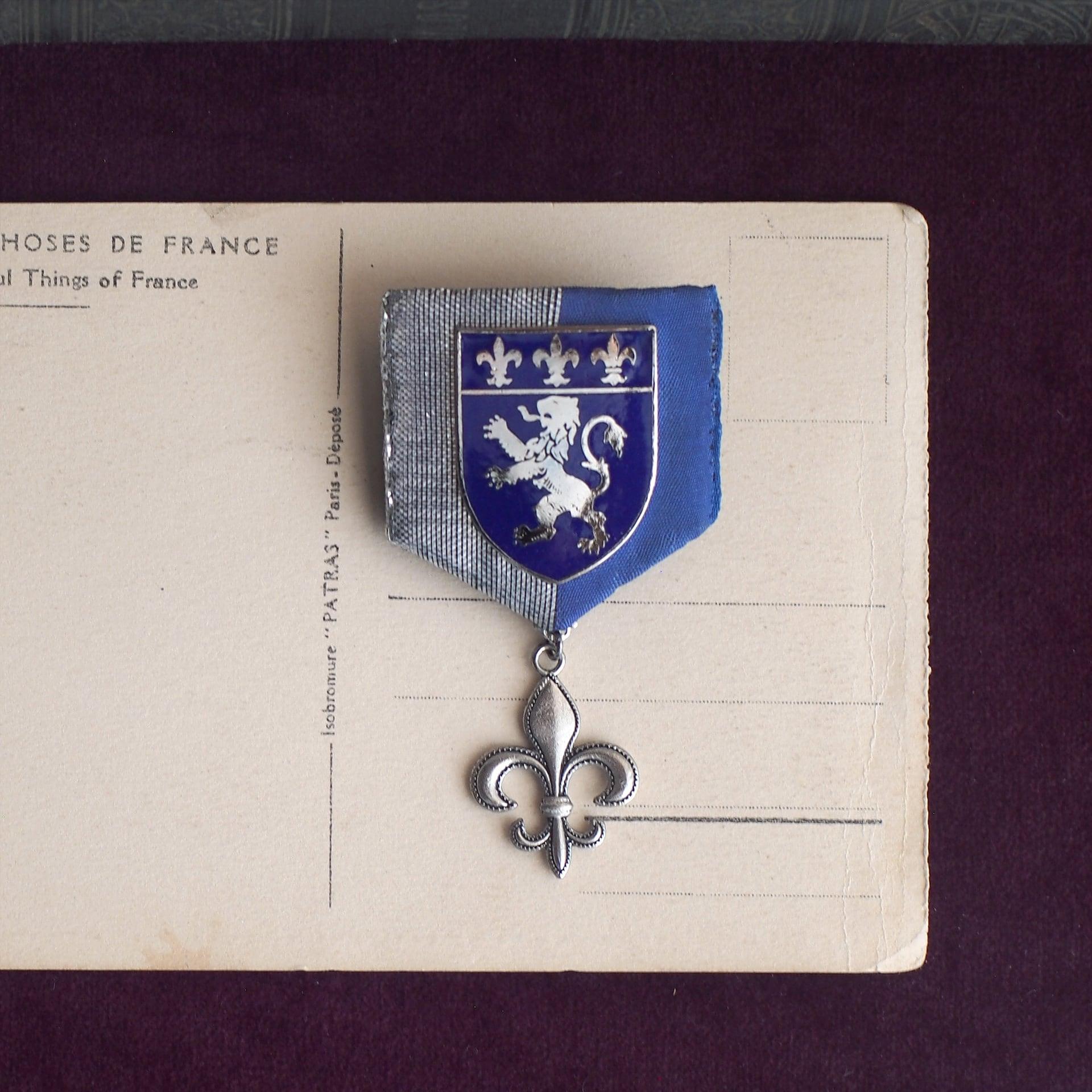 ユリの勲章 / ブローチ(1950Blue×silver)