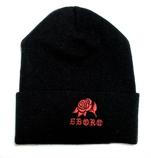 5BORO NYC 5B ROSE BEANIES BLACK ニットキャップ