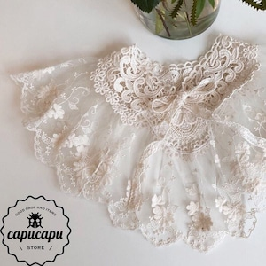 «sold out» Lace cape ver.3 レースケープ 付け襟 つけ襟