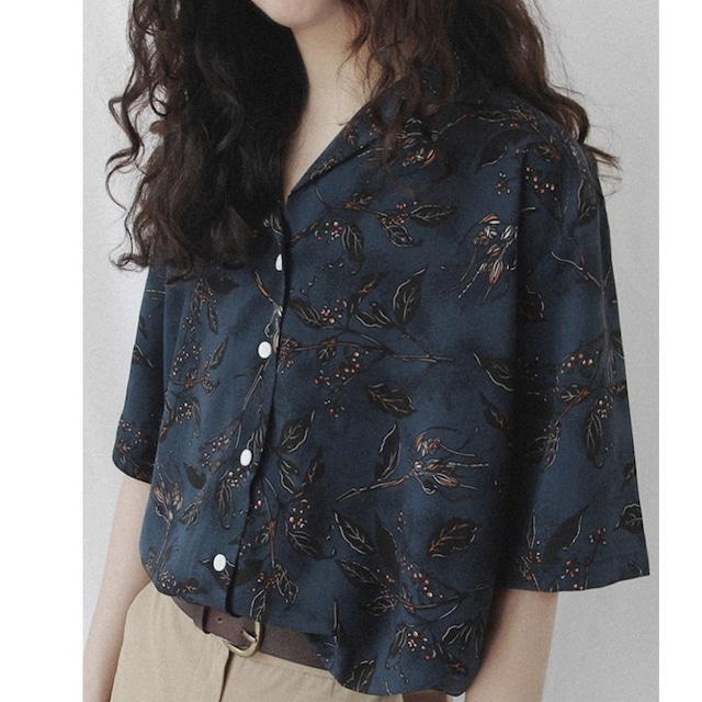 Vintage print shirt  /  KRE027