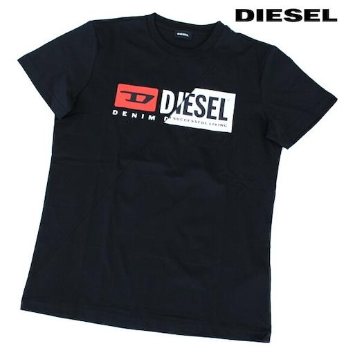 DIESEL ディーゼル Tシャツ 半袖 プリント Tシャツ メンズ T-DIEGO-CUTY BLACK 2020 秋モデル
