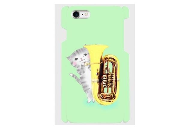 (iPhone用)チューバ猫のスマホケース(かくれんぼ)