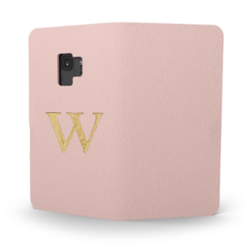 Galaxy Premium Smooth Leather Case (Cotton Pink) : Book Cover
