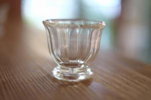 【カンナカガラス工房◆村松学】◆◆◆酒器(台付)ぐい呑み<透明>◆◆