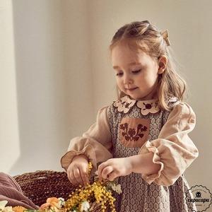 «sold out»«pour enfant» アグネス刺繍ブラウス Agnes blouse
