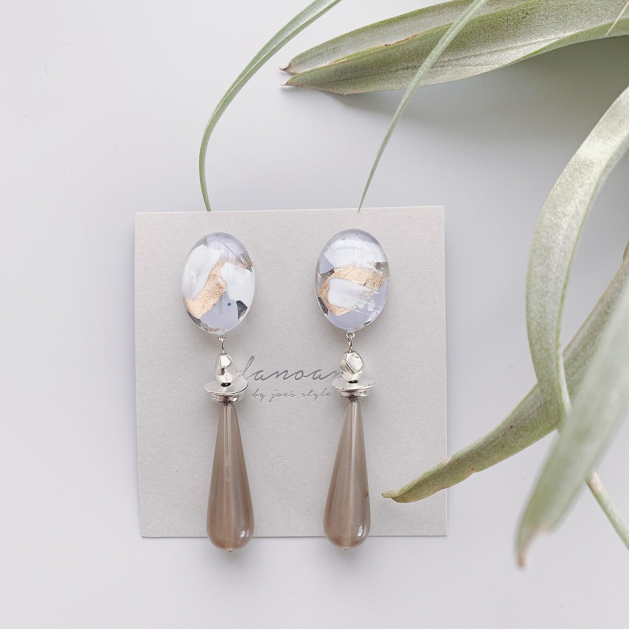 """ Earrings NO.danoan-23″ ランダムペイントとドイツビーズ"