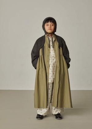 【21AW】GRIS ( グリ )Puritan Collar Dress[ M ]ArmyGreen ワンピース コート