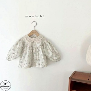 «sold out» monbebe lace collar blouse 2colors レース襟ブラウス