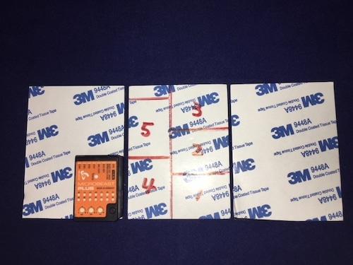 3M スリーエム◆強力両面テープ 80×60×1.8mm 3枚 ジャイロや受信機、アンプの固定にどうぞ !