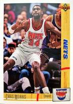 NBAカード 91-92UPPERDECK Chris Morris #339 NETS