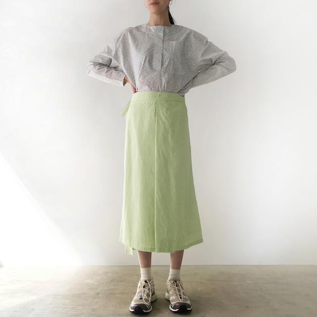 "Wrapped Skirt ""neon green stripe"""