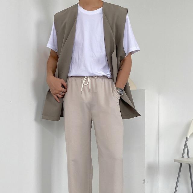 Plain vest jacket   b-042