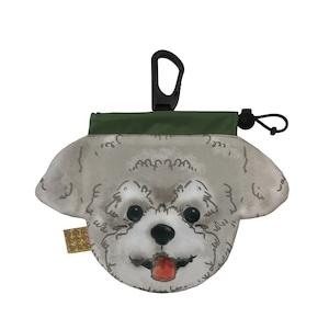 犬のウンチバッグ S【トイプードル】(灰色)  防臭生地 / デオドラント加工布使用