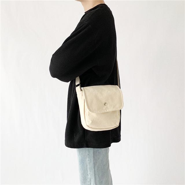 Canvas shoulder bag    b-352