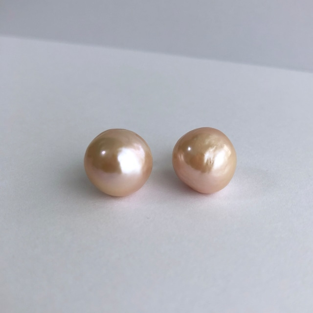 Pink Baroque Pearl Pieces - 002 / K18YG・Pair