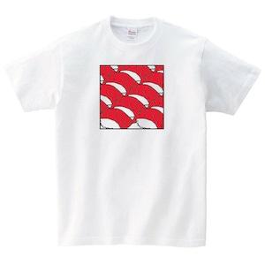 マグロ Tシャツ メンズ レディース 半袖 寿司 おもしろ ゆったり トップス 白 食べ物 ペアルック プレゼント 大きいサイズ 綿100% 160 S M L XL
