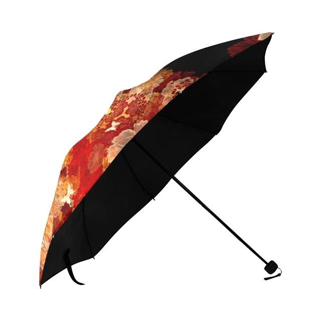 家紋と蝶 折りたたみ日傘