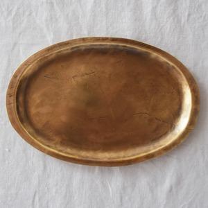 永島義教 Yoshinori  Nagashima   真鍮オーバルプレート