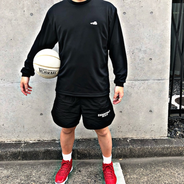 LOGO DRY LONG T-SHIRT / BLACK×WHITE