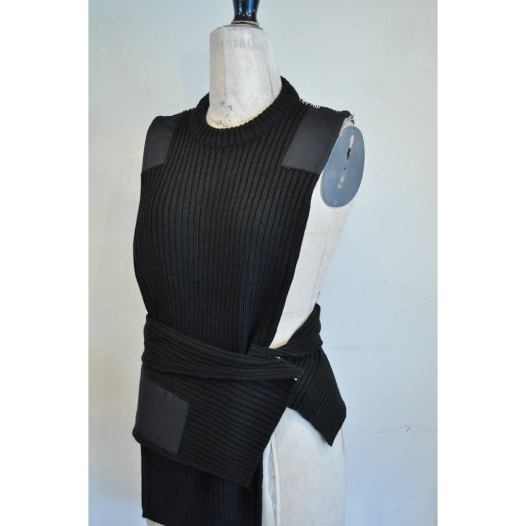 【RehersalL】commando sweater vest(black) /【リハーズオール】コマンドセーターベスト(ブラック)