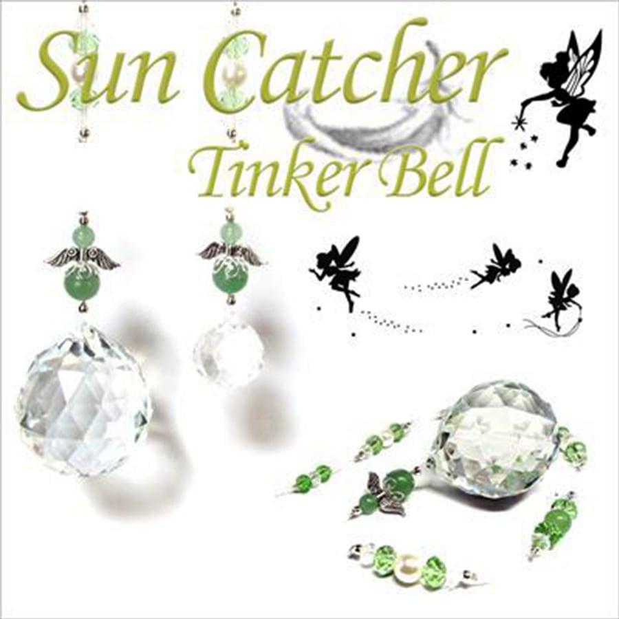 【天使の安らぎと癒やし】天然石 グリーンアベンチュリン Tinker Bell 妖精のサンキャッチャー (45cm)