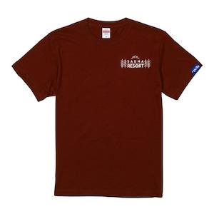 (新商品)【富士急サウナリゾート】ホテルマウント富士 オリジナルサウナTシャツ バーガンディ
