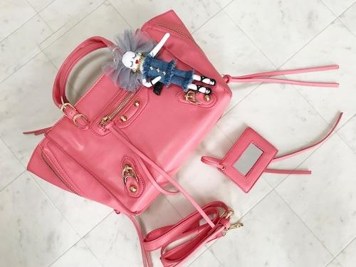 ジップアラウンドbag ピンク