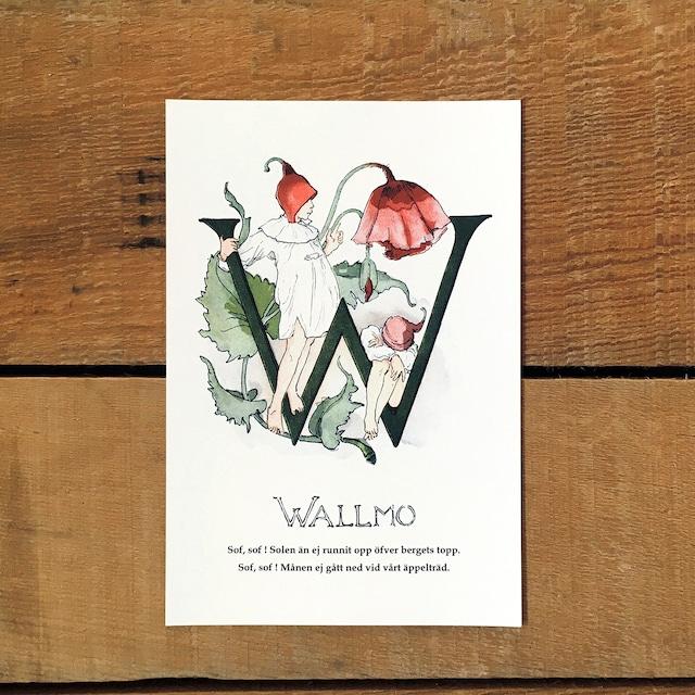 ポストカード「ケシの花@WALLMO(王子たちの花文字 - 23)」