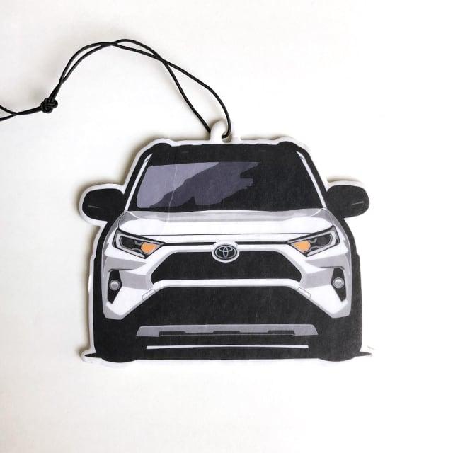 """""""lr art work design"""" RAV4 Air Freshener 【 White × Gray  】"""