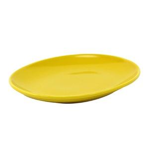 西海陶器 波佐見焼 「コモン」 オーバルプレート 皿 190mm イエロー 17042